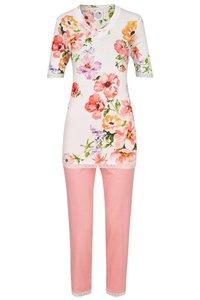 Ringella La Plus Belle Pyjama Korte Mouw, Groot Bloemmotief.