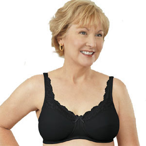 ABC Breastcare Front Lace BH Zwart
