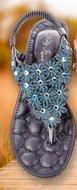 Kelly-Jo Sandaal met sleehakje Donkerblauw