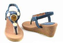 Kelly Jo sandaaltje met sleehak donkerblauw