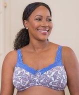 ABC Breascare Frontlace, prothesebh, licht gewatteerd, paisley